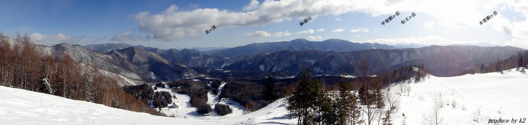 Mt >> Mt.乗鞍スキー場トップから 往復スクロール